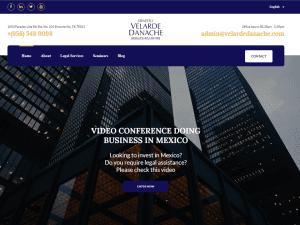 Pag web Ernesto Velarde Danache web page